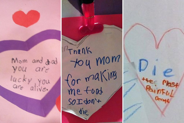 Adorably Terrifying Valentines By Kids