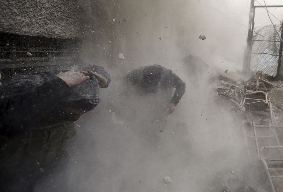 Intense Battle Scenes From Damascus