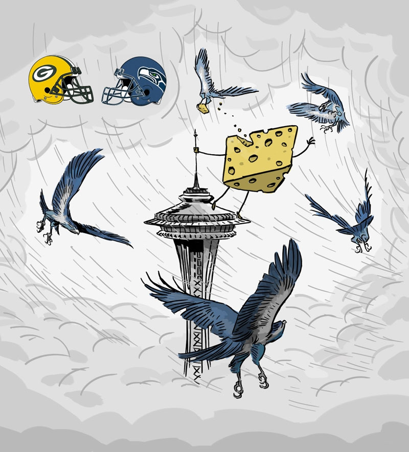 Football Matchups Illustrated by a Pixar Animator