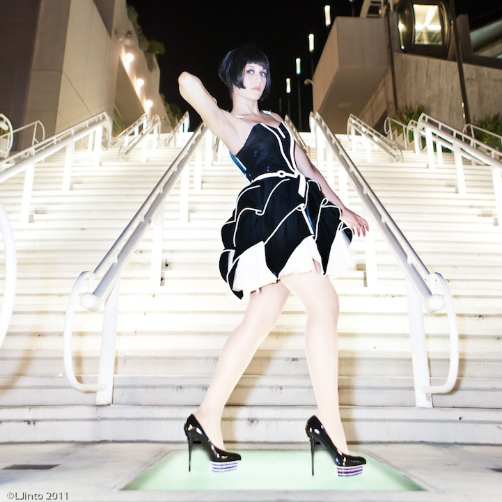 Futuristic Tron-Inspired Prom Dress