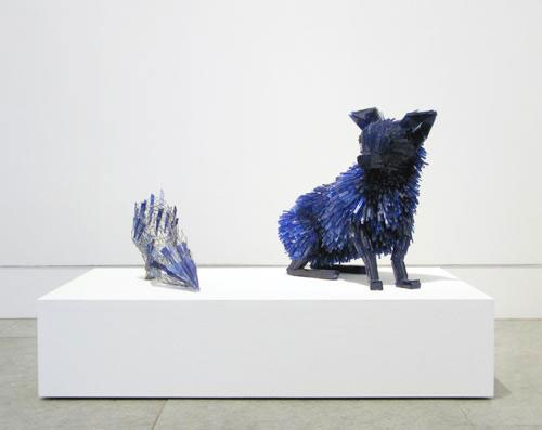 Shattered Glass Animal Sculptures by Marta Klonowska