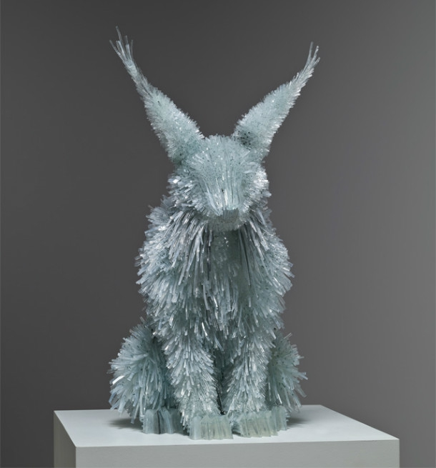 Elegant Animal Sculptures Made From Broken Glass