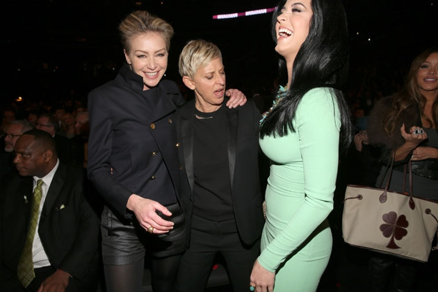 Ellen DeGeneres Ogling Katy Perry's Boobs