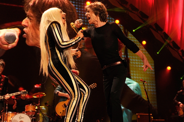 Lady Gaga did the Impossible and Upstagged Jagger at his own Concert!