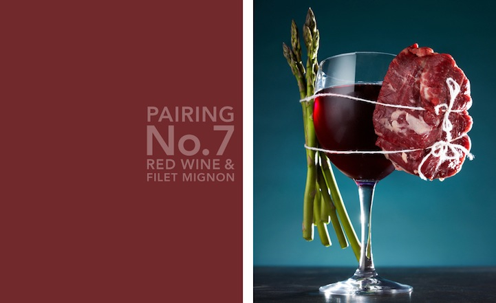 Photographs of Delicious Food Pairings Bound Together