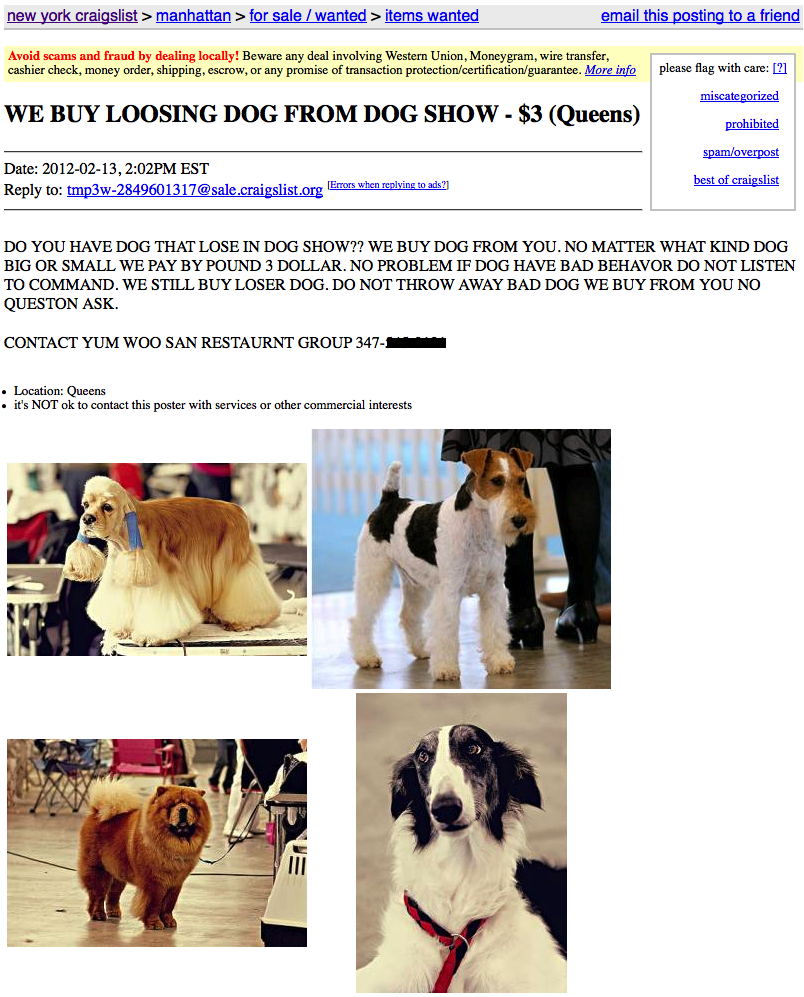 Stupid/Creepy/Hilarious Craigslist Ads!