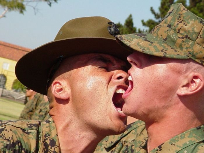 Pictures Of Marine Drill Instructors Screaming In People's Faces  Read
