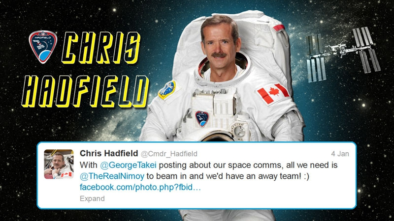 How an Astronaut met Star Trek Alumni from Space