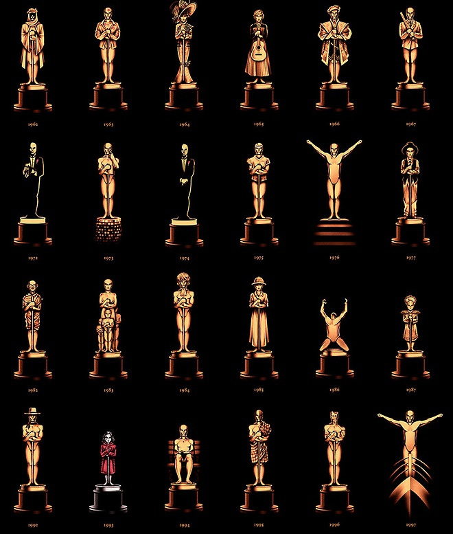 Oscar Statues Morphed into Best Films from Past 85 Years