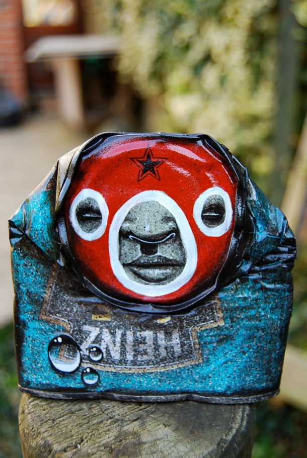 Remarkable Faces Drawn Onto Discarded Cans