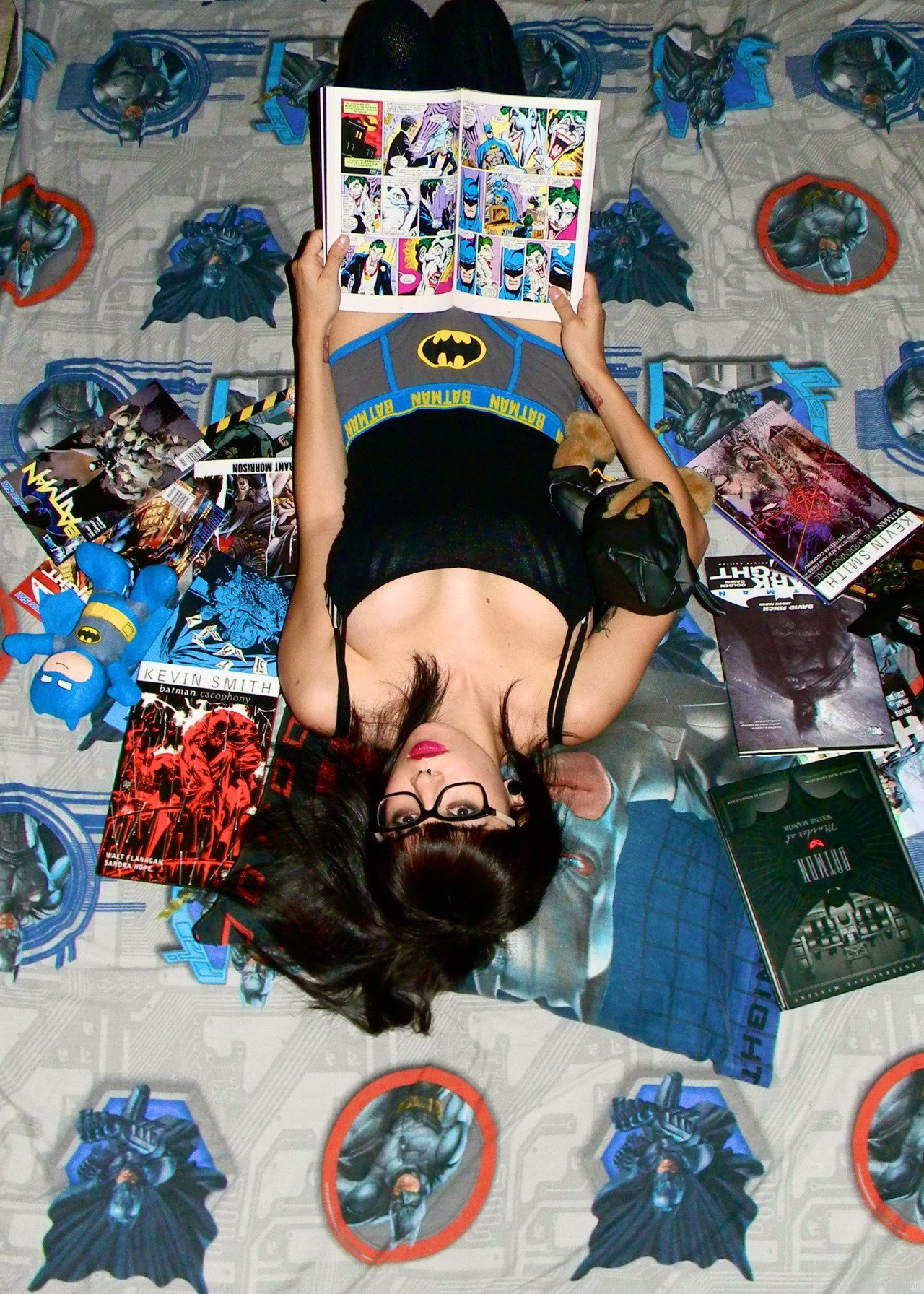 Nerdy Underwear + Hot girls = Overload!