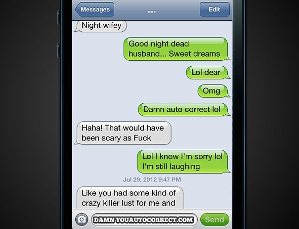 Funniest AutoCorrects Of 2012