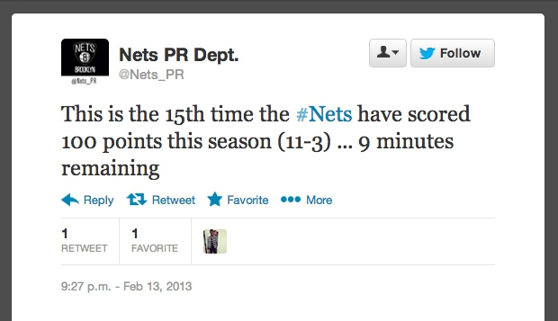 The PR Team for the Brooklyn Nets gets a win