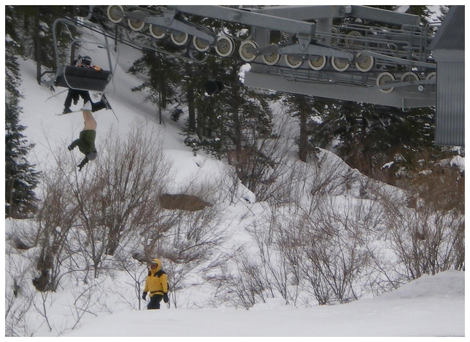 Kid falls 50 feet off ski lift