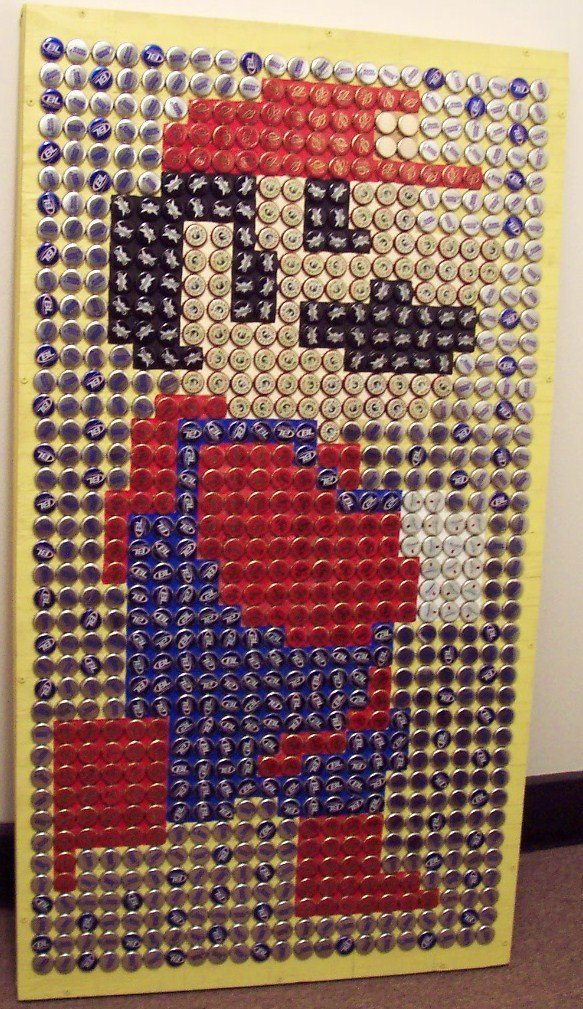 Keg Works Covered an office wall with over 60,000 Bottle Caps