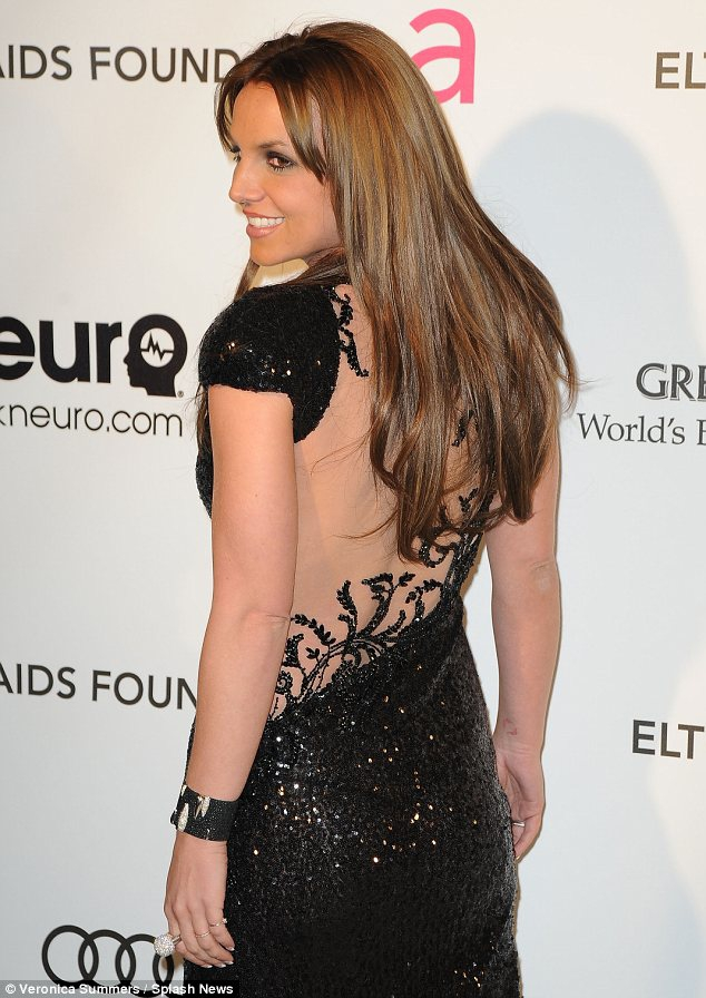 britney spears, sexy, black dress back
