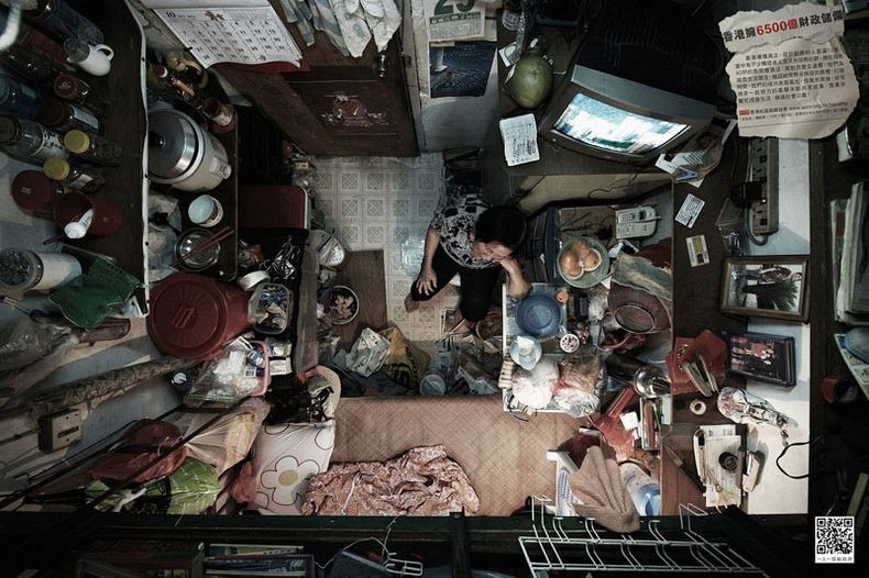 Crowded Hong Kong Apartments Photographed From Above