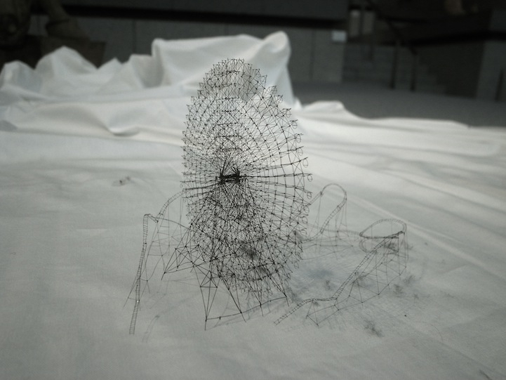 Intricate Miniature Tape, Thread, and Toothbrush Sculptures