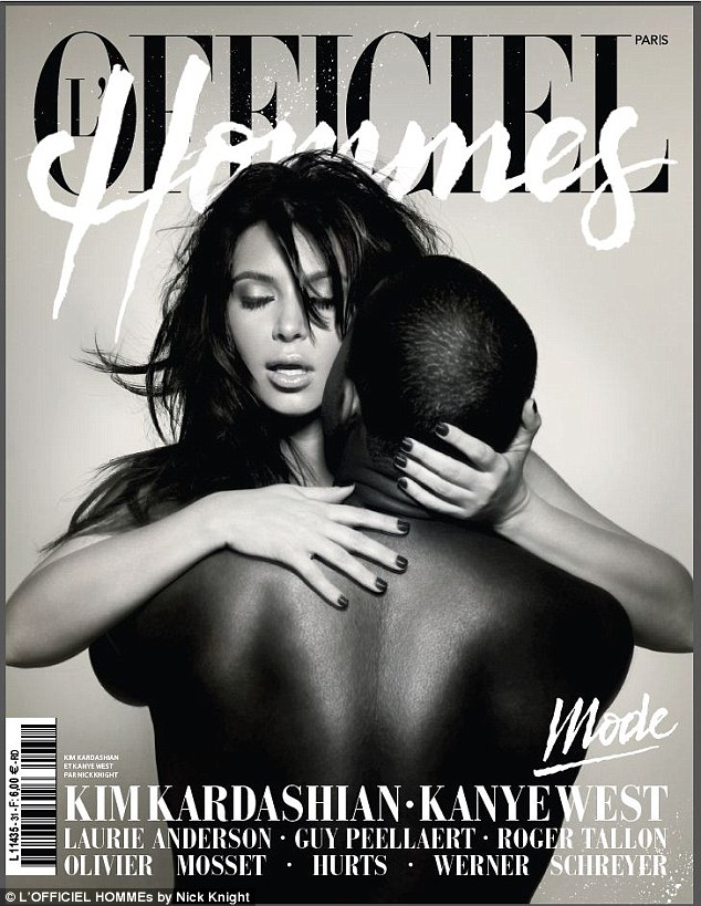 Kim Kardashian and Kanye West pose nude for French magazine
