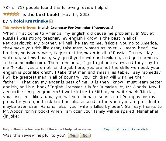 Funny Amazon Reviews.