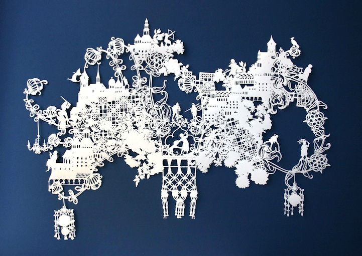 Visual Storytelling Through Intricate Paper Designs
