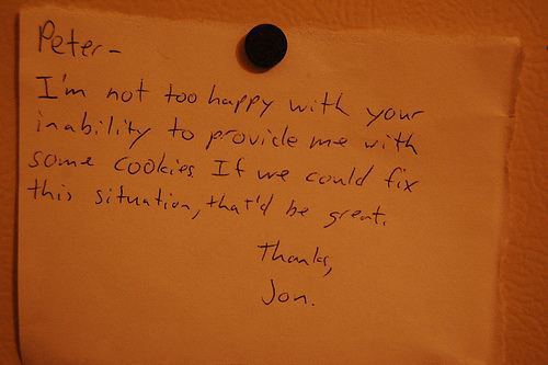 Passive Aggressive Notes From Roommates