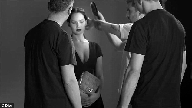 Jennifer Lawrence looks stunning on set of first Dior campaign