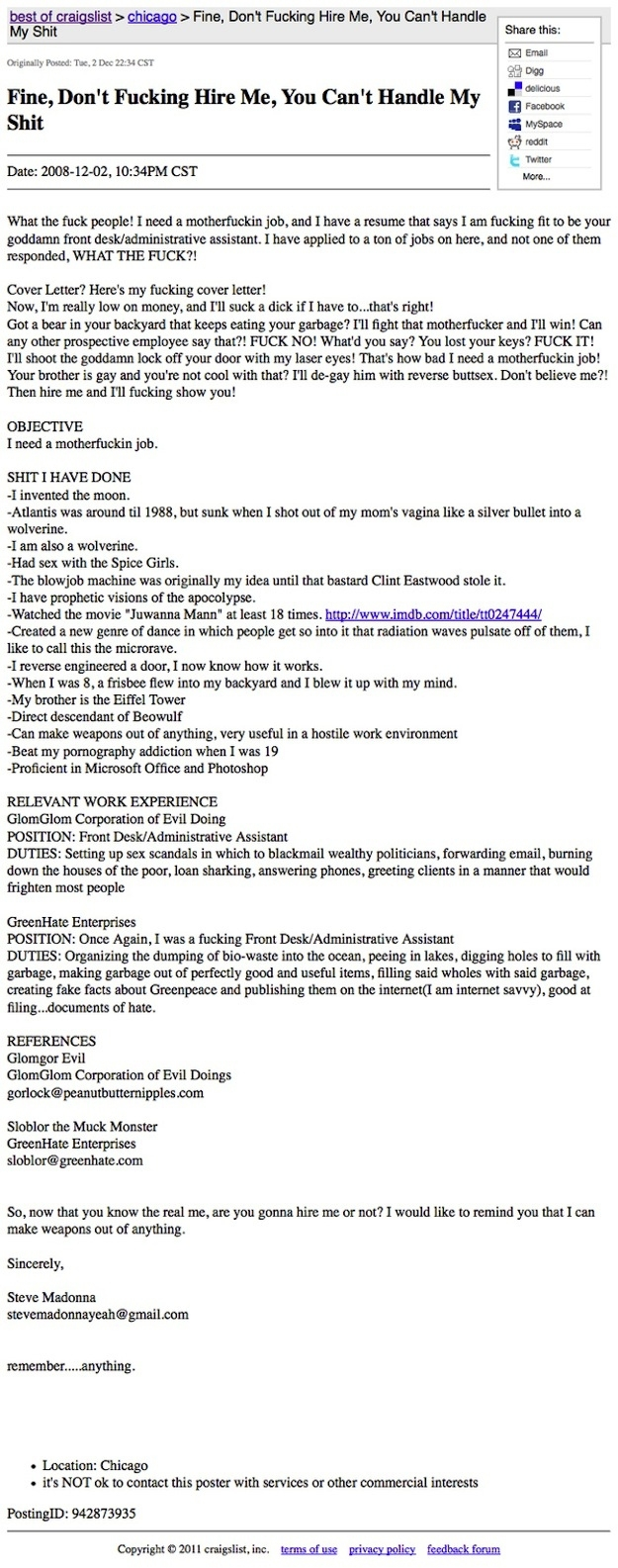 Really Awesome Resumes Built by real Awesome People.