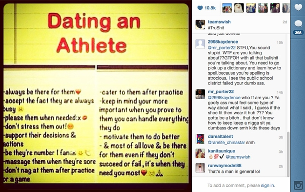 Athletes Don't Understand That Instagram Is For Pictures