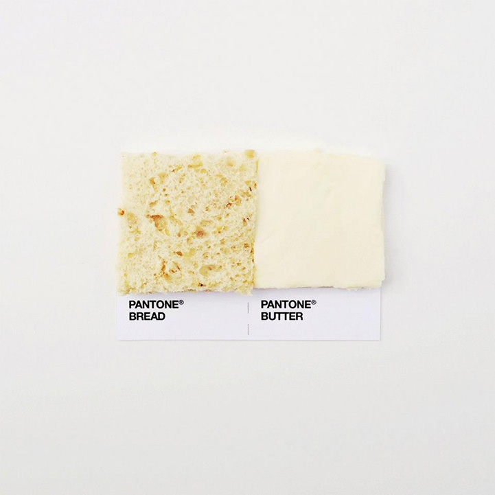 Clever and Appetizing Pantone Swatch Food Pairings