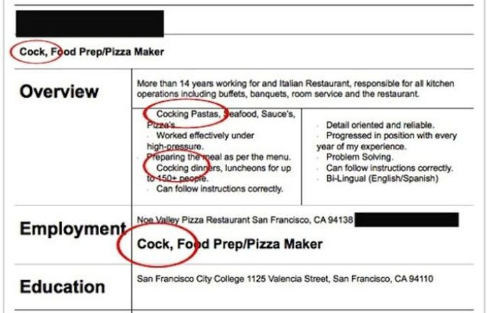Hilarious Resumes