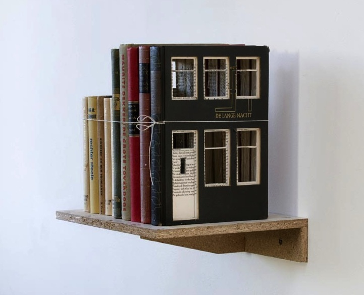 Ordinary Books Transformed into Charming Little Buildings
