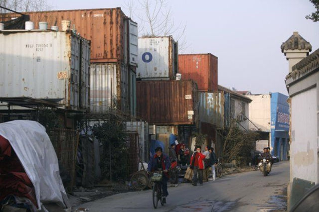 Poor Shanghaians Call Shipping Containers Home