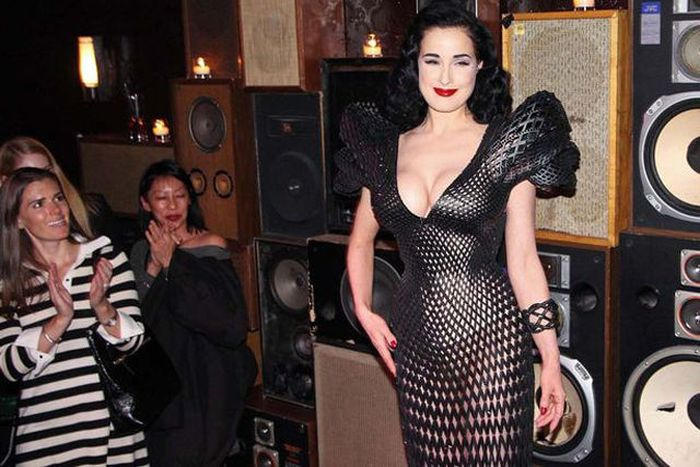 3D Printed Dress of Dita Von Teese
