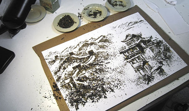 Illustrations Made from Tea by Andrew Gorkovenko