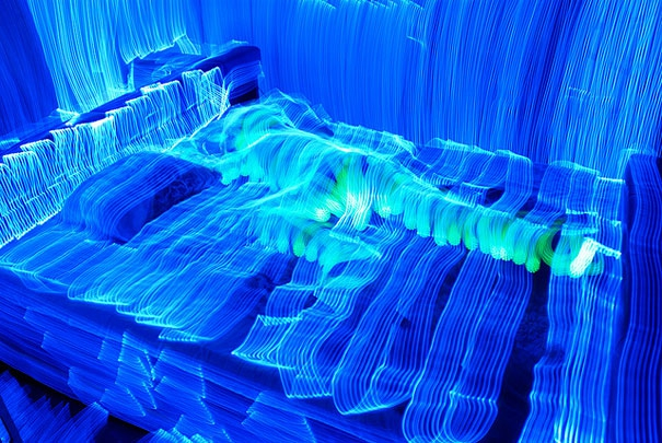 Stunning Light Paintings Made by Tracing Entire Rooms with One Led