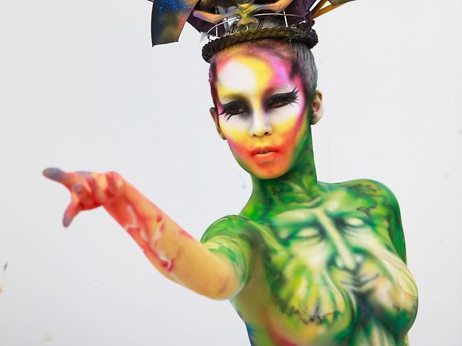 Mesmerizing International Body-Painting Festival.