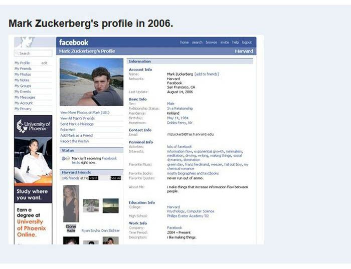 Facebook Evolution