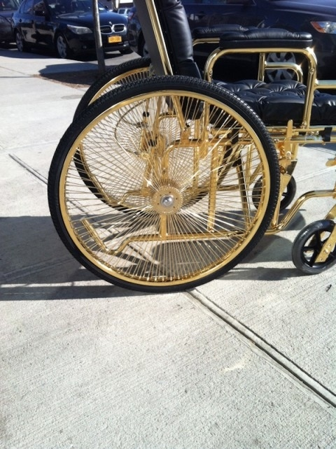 Lady Gaga Is Sitting In A 24-Karat Gold Wheelchair
