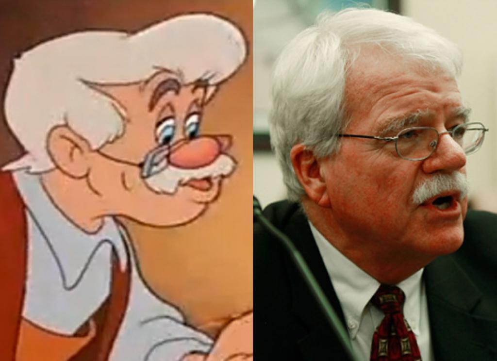 Rep. George Miller & Mister Geppetto (Pinocchio)