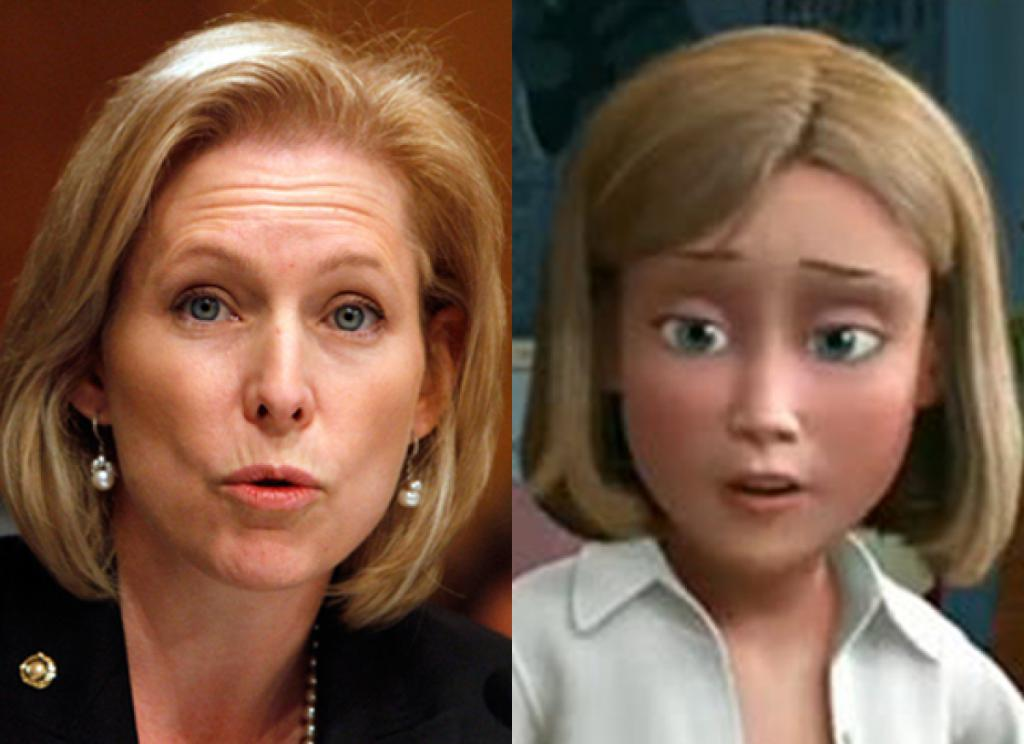 Sen. Kirsten Gillibrand & Andy's Mom (Toy Story)