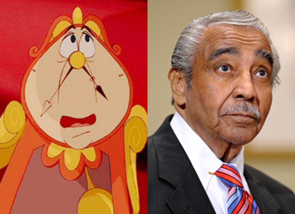 Rep. Charlie Rangel & Cogsworth (Beauty & the Beast)