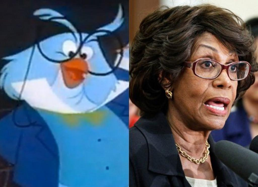 Rep. Maxine Waters & Professor Owl (House of Mouse)