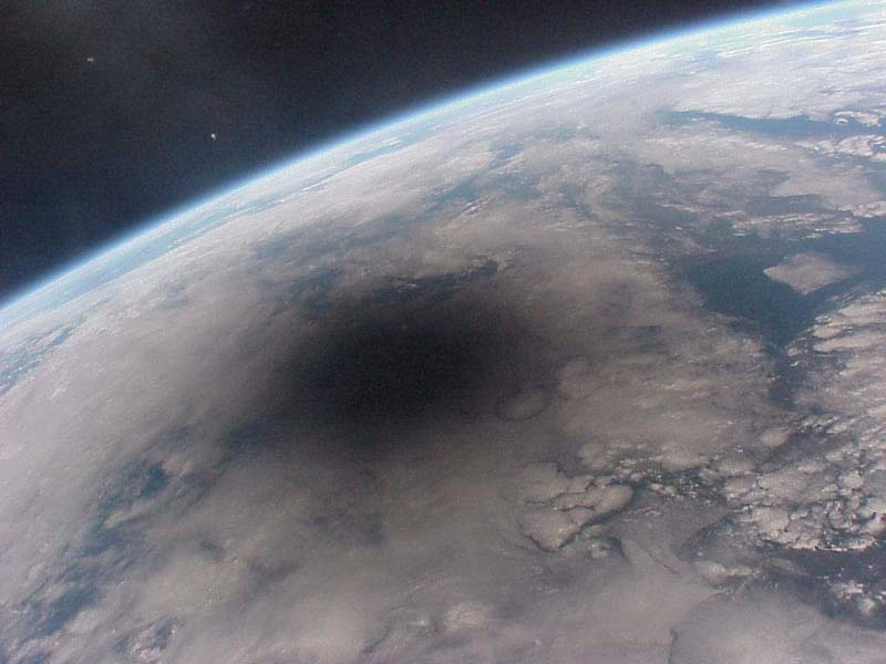 Solar Eclipses Viewed From Space.