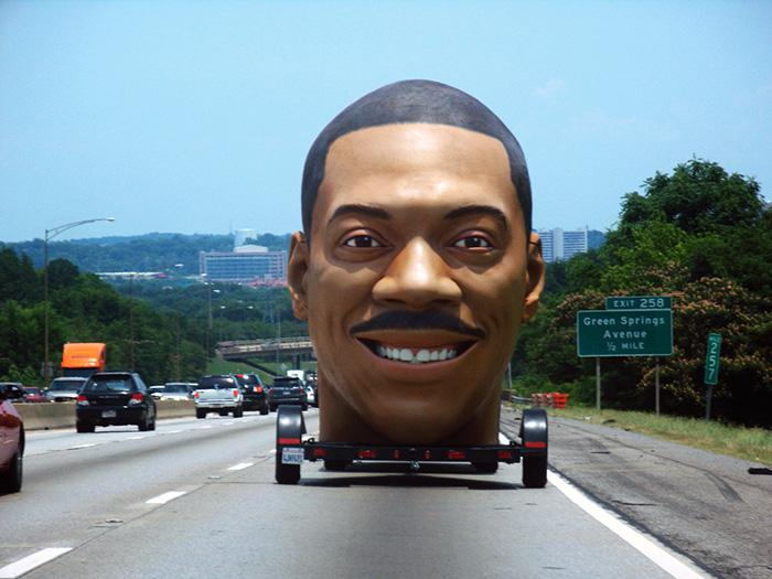 Giant Eddie Murphy Head