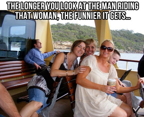 Man Riding Woman