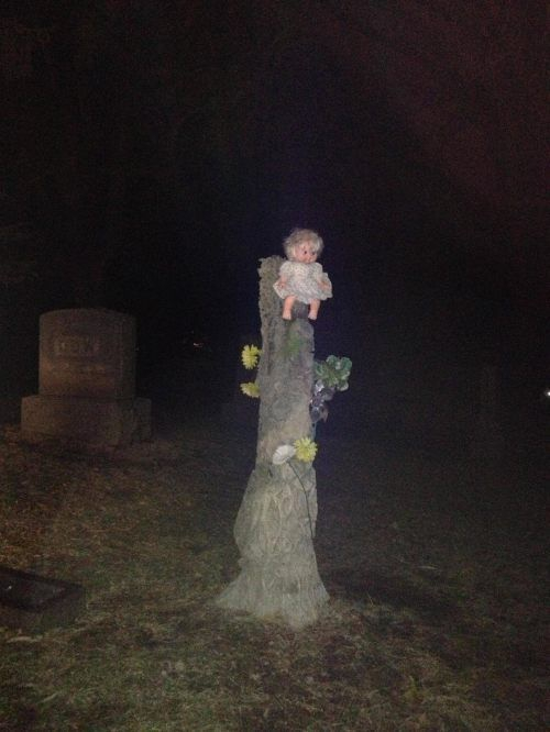 Creepy Cemetery Doll