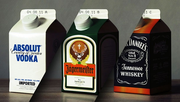 Alcohol Milk Cartons