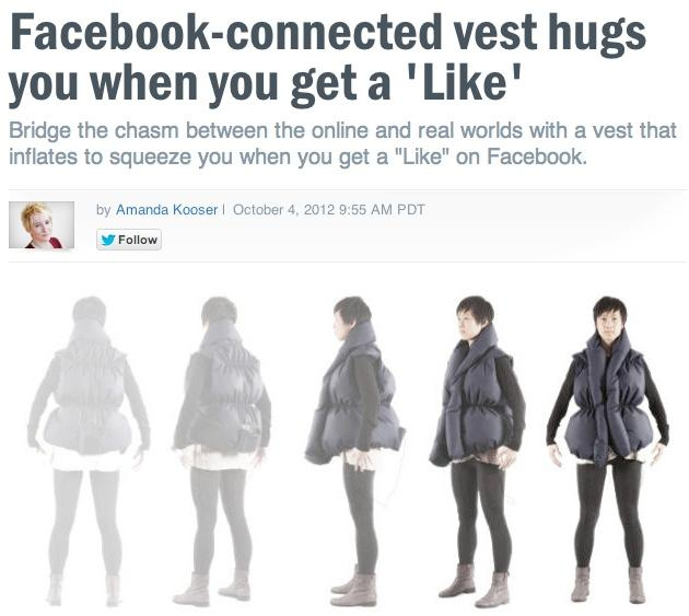 The Facebook Hug Vest