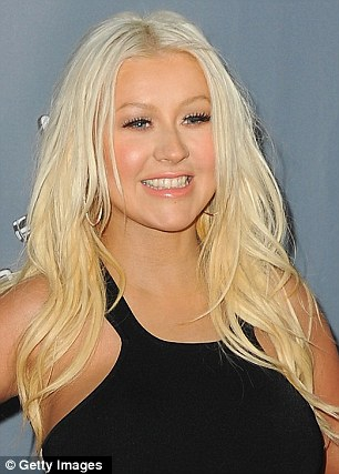 Cristina Aguilera black dress Slimmed Down